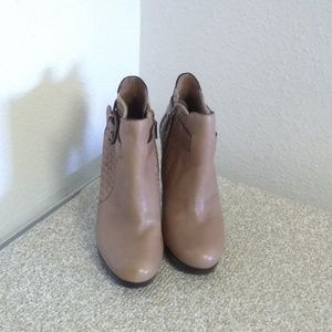 Cole Haan Tan Leather Ankle Boots